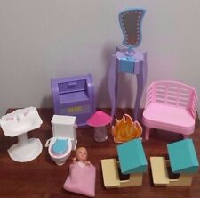 Vintage Barbie Doll Accessories and Misc. Furniture Lot School Desks, Mailbox