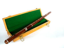 TRADITIONAL IRISH WOODEN KEYLESS FLUTE WITH PRESENTATION CASE