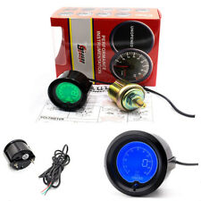 Car Oil Press Pressure Meter/ Gauge 7 Color Digital LED Light Smoke Tint Lens