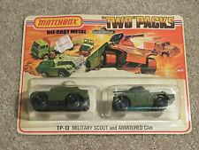 Matchbox Die-Cast Two Packs TP-13 Military Scout And Armoured Car 1975 MOC