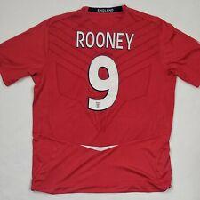 2008 - 2010 ROONEY England Football Shirt Kit Soccer Jersey Umbro XL lions red