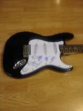 Radio Romance Country Musicans Band Signed Electric Black Full Size Guitar