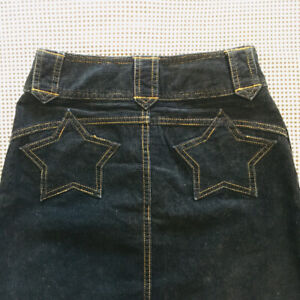 Hysteric Glamour  Woman Corrugated Skirt Dark Blue Star Size S