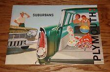 Original 1957 Plymouth Suburban Foldout Sales Brochure 57 Sport Custom