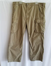 Mens Levis Cargo Pants 42 x 32 Beige Loose White Tab