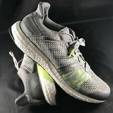 a65a19904756b  CQ2147  Mens Adidas Ultra Boost ST M Running Sneaker- Grey Lime Green White