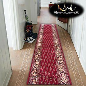 Thick Hall Runner TRADITIONAL OPTIMAL OSET MAROON Width 67-150cm extra long RUGS