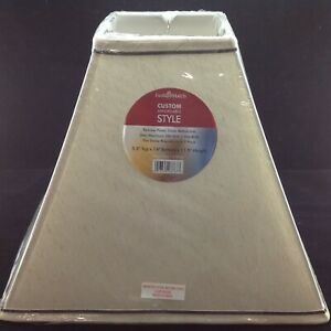 Kenroy Home FMSH856-14-TPLN Square Shade Taupe 5.5 top x 14 bottom x 11.5 height