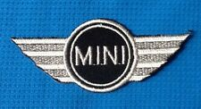 MINI COOPER CAR  WING SOW SEW ON IRON ON CAP PATCH BADGE