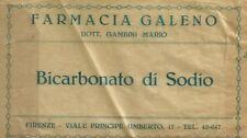 Busta Bicarbonato di Sodio Farmacia Galeno Firenze Viale Principe Umberto 1900