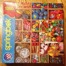 2013 Springbok Tiny Treasures Colorful 1000 Piece Jigsaw Puzzle Complete!