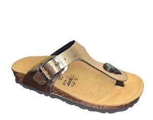 BIOCHIC 4031S Sandalias infradito Zapatos Niña Bio Natural Italian Estilo