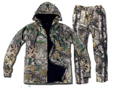 Winter plus velvet jacket bionic camouflage jacket pants hunting fishing clothin