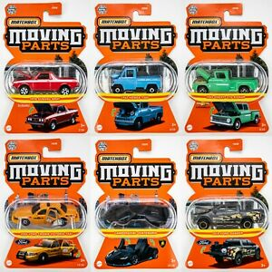 2021 Matchbox Moving Parts Wave D - 6 Vehicles / Honda / Subaru / Lamborghini