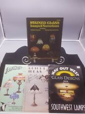 LOT OF 4 Stained Glass Lamps Pattern Books