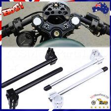 Motorcycle CNC Clip-ons Handlebars Fork Tube 31/32/33/35/37/39/41/50/51mm Black