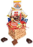 Valentines Day Care Package Heart Gift Baskets - Snacks, Heart Chocolates, Candy
