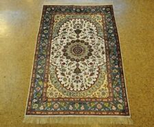 Ivory Rug For Sale  Hand-Knotted Rug 3' x 5' Perfect Balance Silk Tabriz