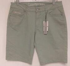 CALVIN KLEIN Jeans Womens Casual Walking Shorts Green Sage Sz 12 NWT