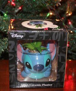 Disney Lilo and Stitch: STITCH SUCCULENT FAUX MINI PLANTER with Pebbles - New!