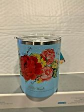 New listing Pioneer Woman Sweet Rose Design 12 Ounce Travel Mug With Lid Stainless Steel