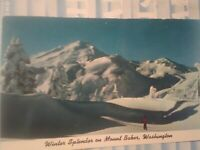 VINTAGE POST CARD KULSHIN RIDGE & MT.BAKER WASHINGTON