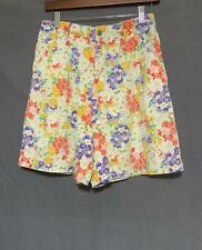 Vintage 70's High Waist Floral Walking Shorts by Lizsport Petite Size Small