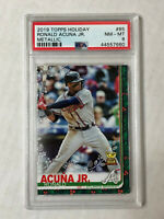 RONALD ACUNA JR 2019 Topps Holiday METALLIC SP RC! PSA NM-MT 8! #85! BRAVES!
