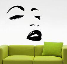 Woman Face Wall Decal Vinyl Sticker Make Up Art Fashion Beauty Salon Decor 7hezz