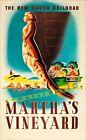 Marthas Vineyard 1945 Massachusetts Vintage Poster Print Retro Style Travel Art