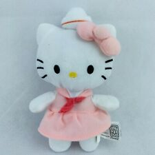 "Sanrio Hello Kitty Plush 8"" Wearing  Pink Sailor Dress Bow 2012 Stuffed Animal"