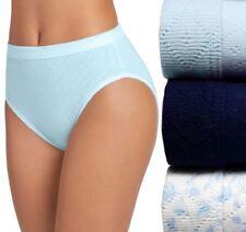 Jockey Elance Breathe 3-Pack 100% Cotton French Cut Panties Blue Assorted