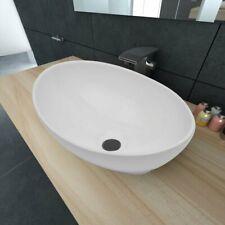 vidaXL Luxury Ceramic Basin Oval Shaped Sink, White 40 x 33 cm