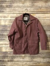 The Woolrich Women's Vintage Jacket Lined Parka Purple Cotton Made in USA Large