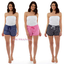 Womens Ladies lounge WEAR  PYJAMAS Summer Shorts Cotton PJS  UK Size SPOT