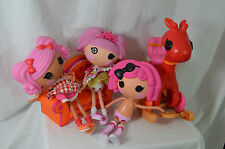 Lalaloopsy Doll Lot Pepper Pots Pans Crumbs Sugar Cookie Couch Rocker Stroller