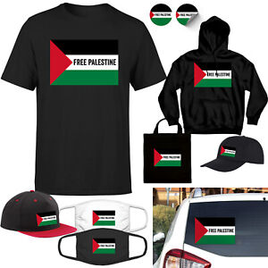 Free Palestine T-shirt Gaza Freedom Protest Humanity Hoodie Car Stickers Cap Bag