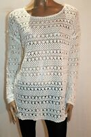 Target Brand White Open Weave Lace Knit Long Sleeve Top Size 16 BNWT #SA34