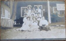 Sorority 1910 Realphoto Postcard: Phi Delta Kappa, College Girls on Beach