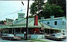 GATLINBURG, TN Tennessee CHIMNEY HOUSE Restaurant  c1960s Cars Roadside Postcard