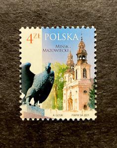 POLAND Stamps 2021 Polish cities - Mińsk Mazowiecki #5155 (1677)