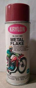 Vintage Case Fresh NOS 1968 RED Krylon Metal Flake Spray Paint Borden Cycle