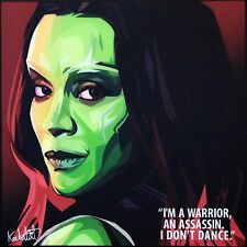 Gamora guardian of the galaxy canvas quotes wall decal painting pop art poster