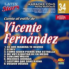 Karaoke Latin Stars 34 Vicente Fernandez Vol. 1