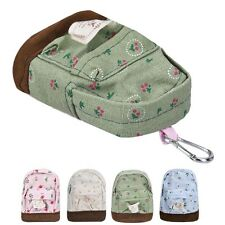 New Canvas Mini Floral Girls Kids Cheap Coin Pouch Change Purses Keychain Bags I