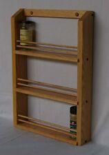 Triple Shelf Oak Spice Rack