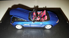 1999 BMW Z8 Dealer Special #80420139182 1/43 Topaz Blue Red Interior Minichamps