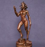 fantastischer erotische nackte Gestalt Gorgon Medusa 75mm. Copper figure.