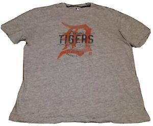 Detroit Tigers T Shirt XL Mens Grey Short Sleeve MLB Baseball
