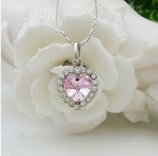 Titanic Heart Of The Ocean Sapphire Blue Crystal Necklace Pendant Women Jewelry